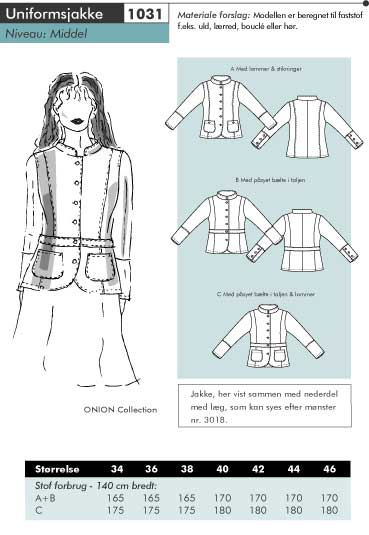 Onion uniform jacket