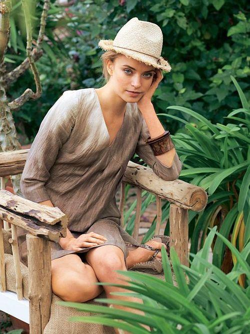 Burda 109 pleated dress pattern - burda mag april 10 - brown