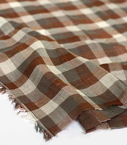 Vintage brown double gauze check