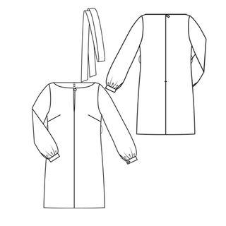 Belted tunic dress style 128 - jan 2010