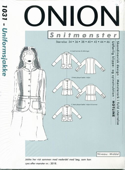 Resize of onion jacket pattern scanned