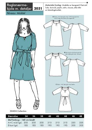 Onion ragland sleeved dress 2031