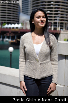 Chic Knits basic-chic-v-neck-cardi
