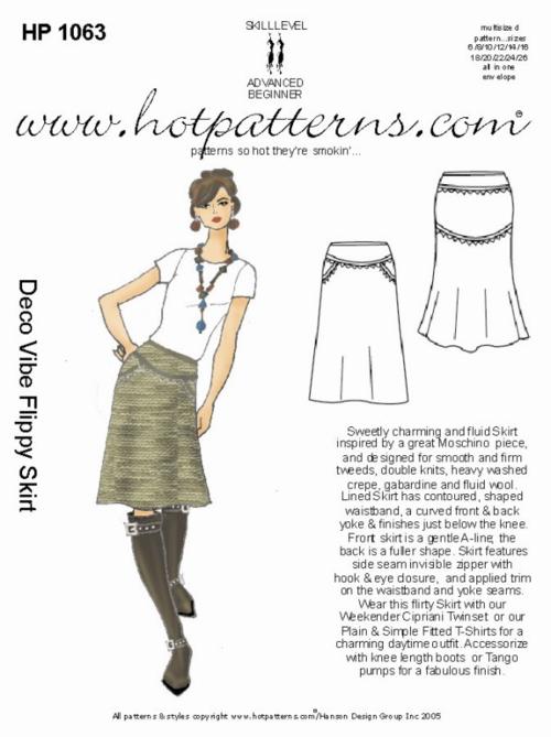 Deco vibe flippy skirt